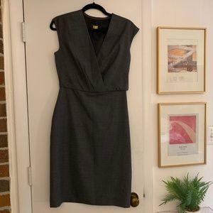 J Crew Super 120s Suiting Gray Dress 0